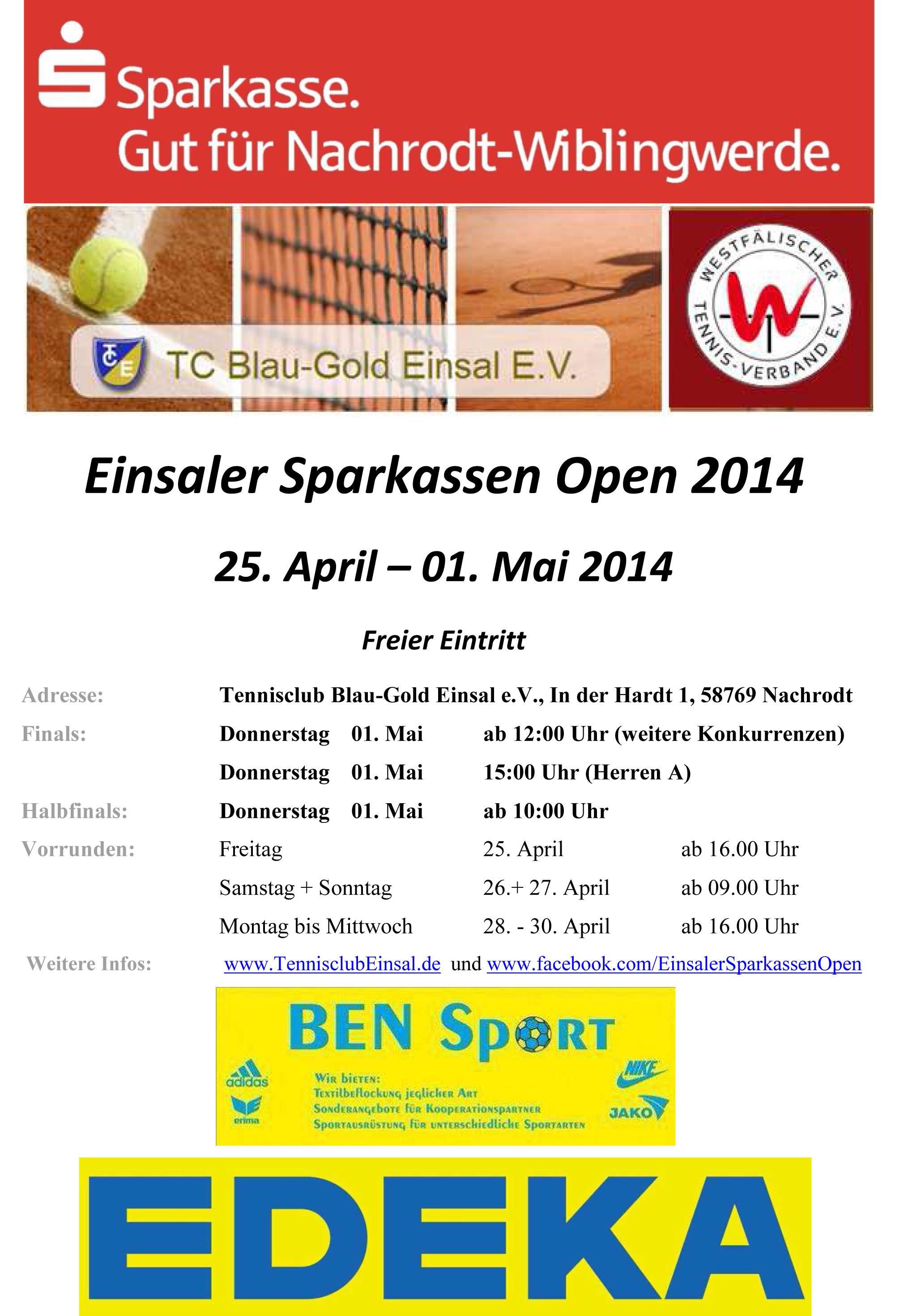 Einsaler Sparkassen Open 2014