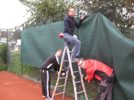 Herbstarbeiten Tennis,